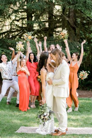 Summer wedding party photos