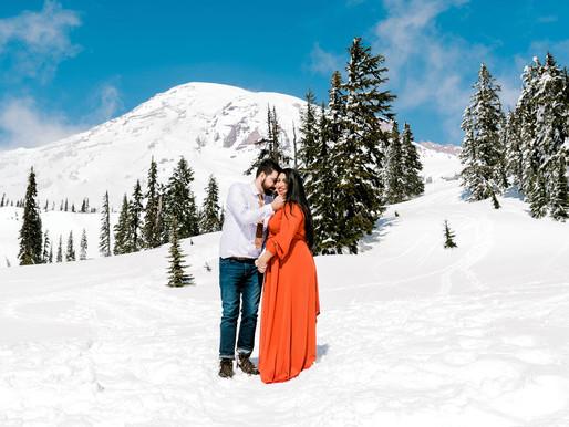 Mt. Rainier Engagement Session/ Alex & Rafael/ Shantel Wall Photography