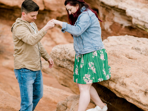 Garden Of The Gods Engagement Session, Colorado/ Pikes Peak/ Shantel Wall Photography