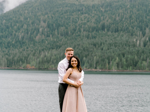 Olympic National Park Engagement/Lake Cushman, Wa/Shantel Wall Photography/Karina and Joe/Engagement