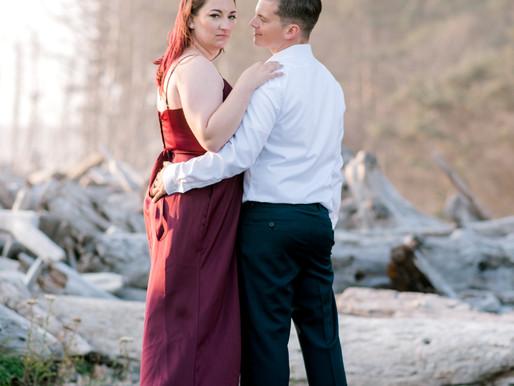 Rialto Beach Engagement / Nicole & Jeremiah / Shantel Wall Photography