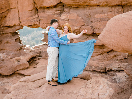 Garden of the Gods/ Colorado Springs/ Samantha & Eric/ Shantel Wall Photography