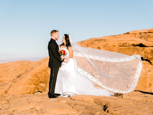 Valley Of Fire Helicopter Elopement/ Brian & Sanddy/ Shantel Wall Photography