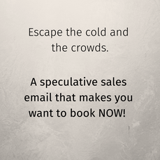SPECULATIVE sales email that makes you want to book NOW