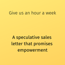 A speculative sales letter that promises empowerment
