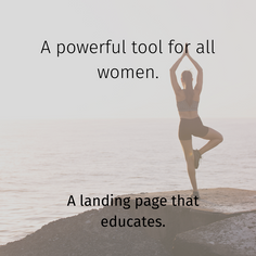 Langing page copywriting Yoga