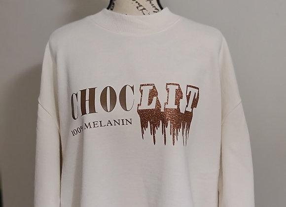 Sweatshirt with ChocLit Print Design