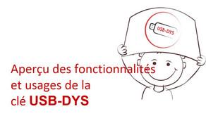 Logiciels pour enfants dyspraxiques : la clé USB DYS