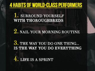 Paving the Path to World Class: 4 Habits of World-Class Performers