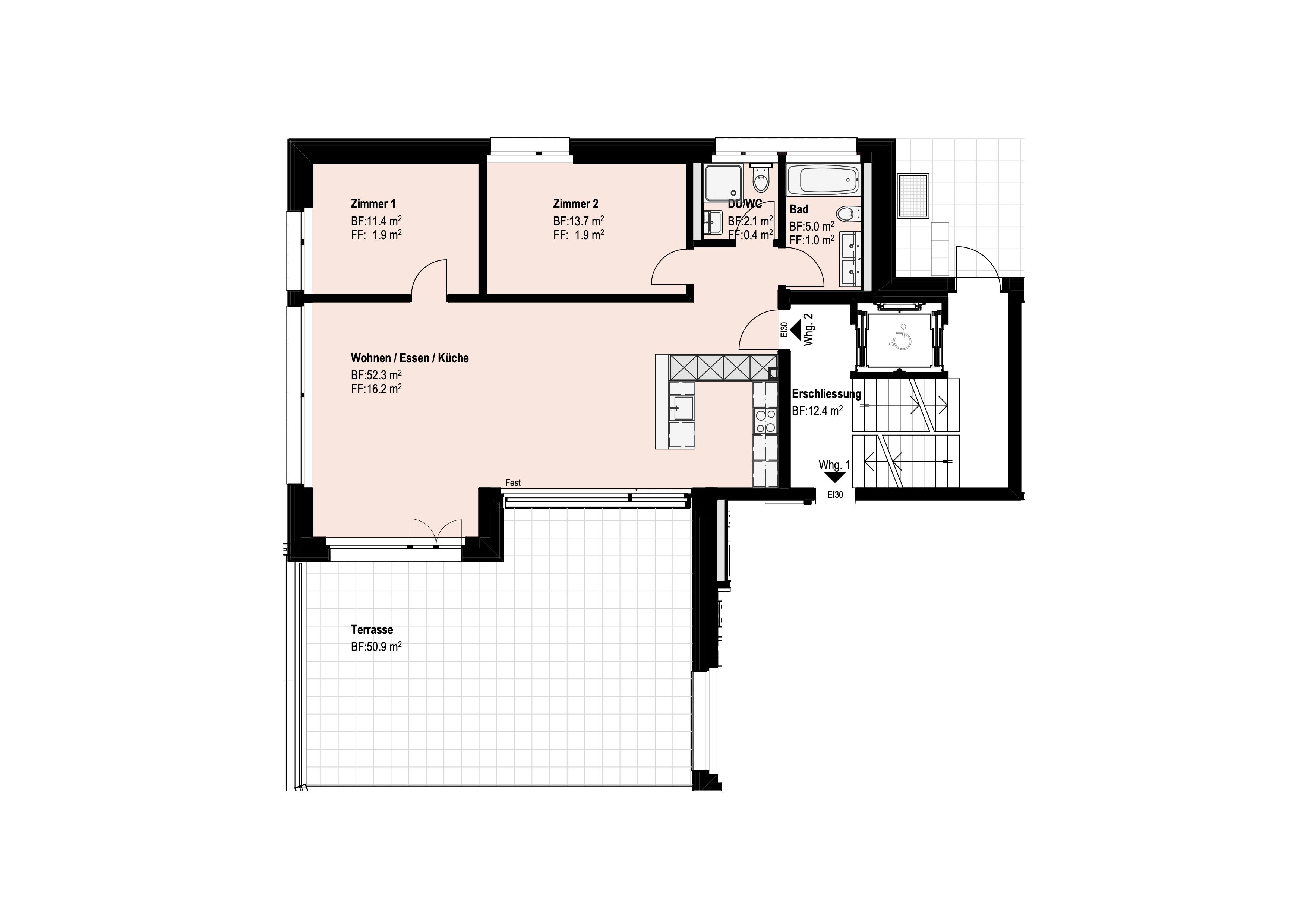 3 ½-Zimmer-Wohnung Erdgeschoss