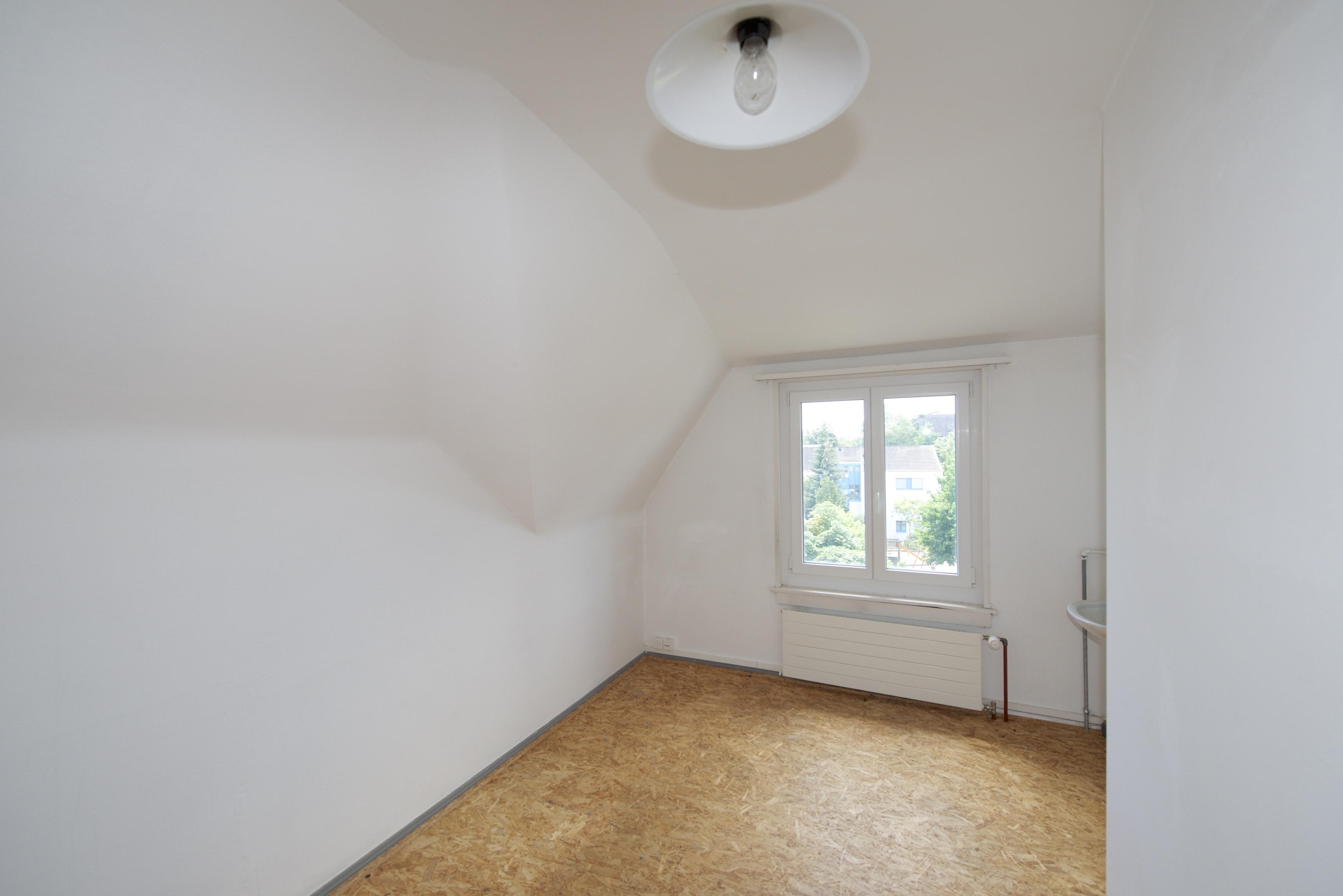 Ausgebautes Zimmer im Estrisch