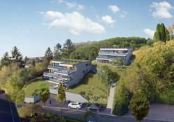 Ansicht der geplanten Häuser