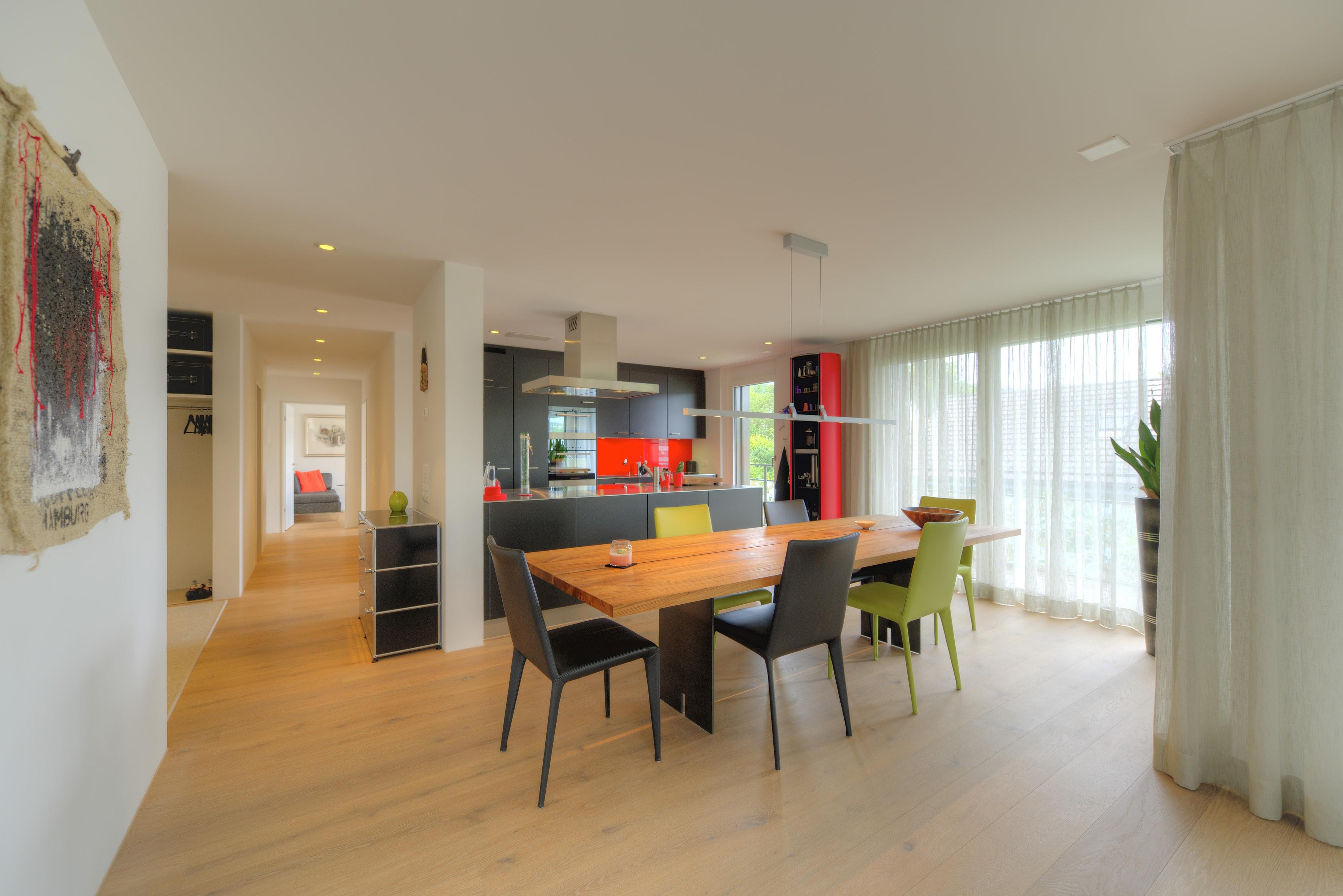 Essbereich mit der Küche