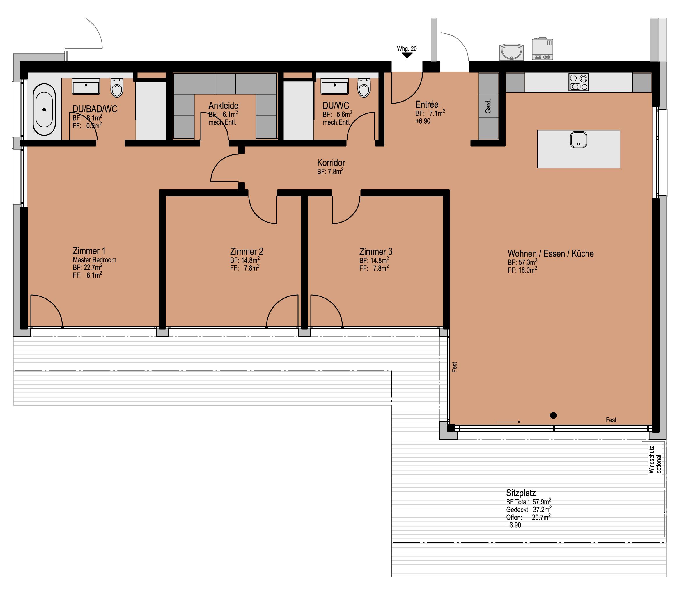 Wohnung 20, Erdgeschoss