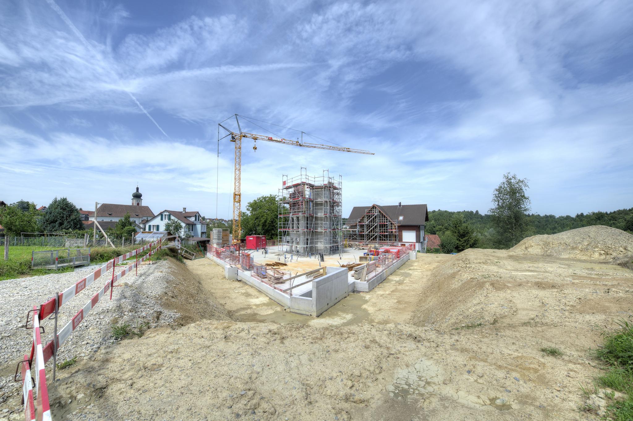 Baustelle im August 2017