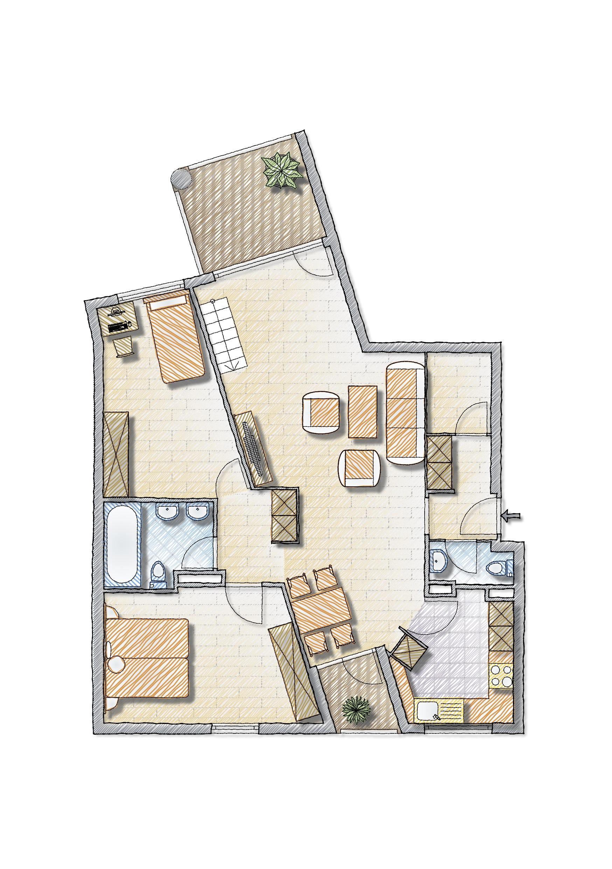 Wohngeschoss