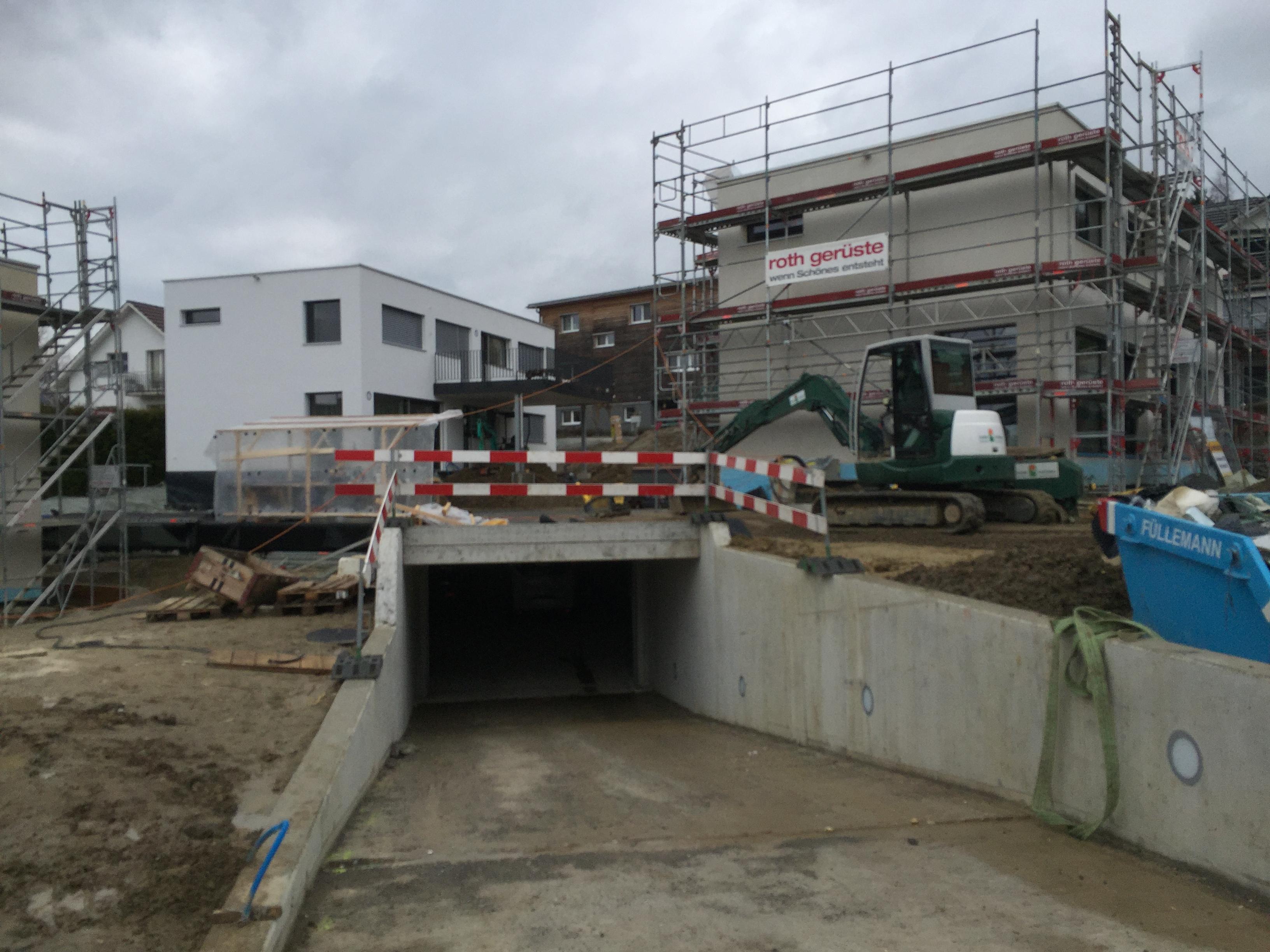 Baustelle anfangs März 2017