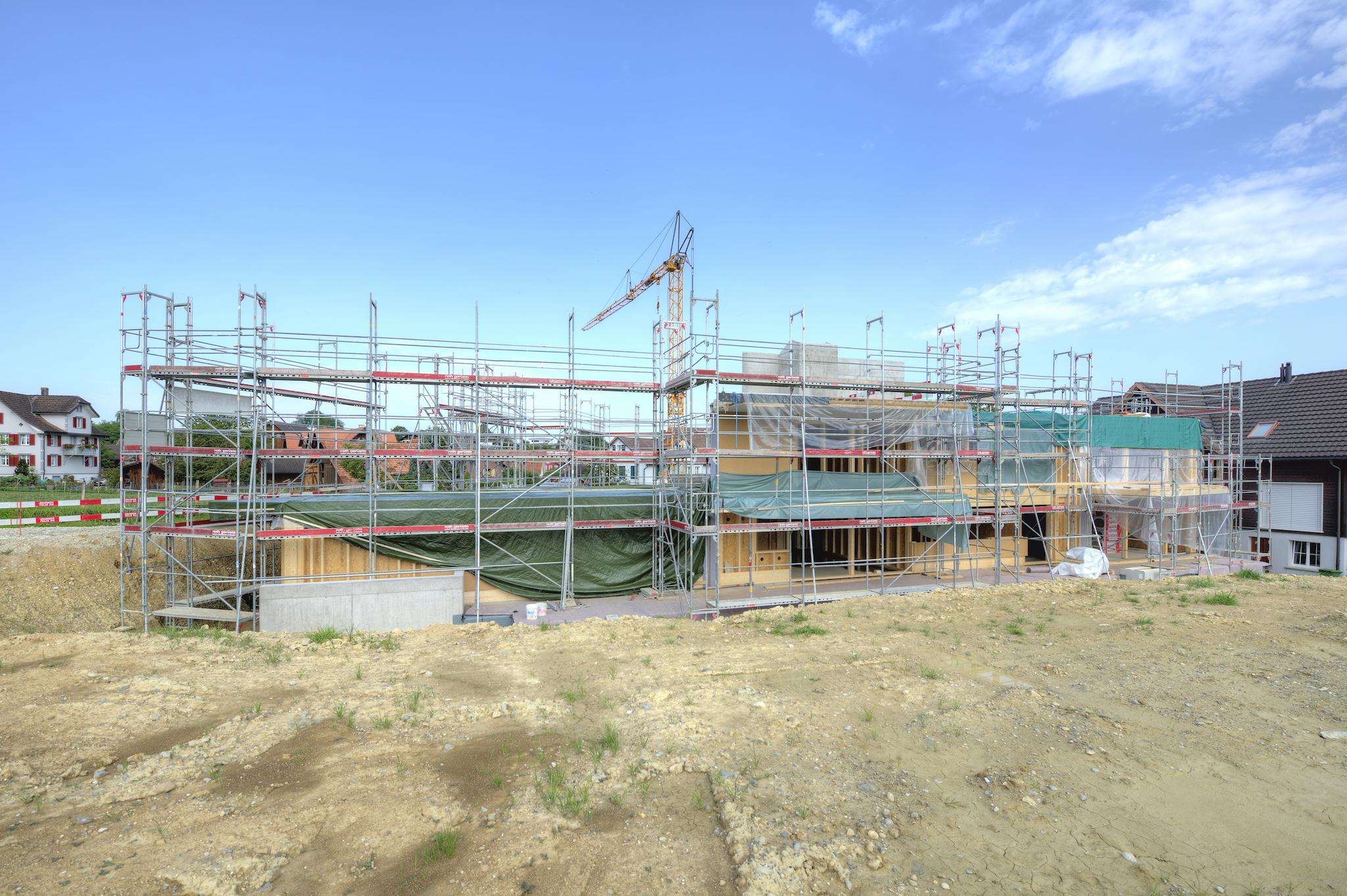 Die Baustelle am 26. August