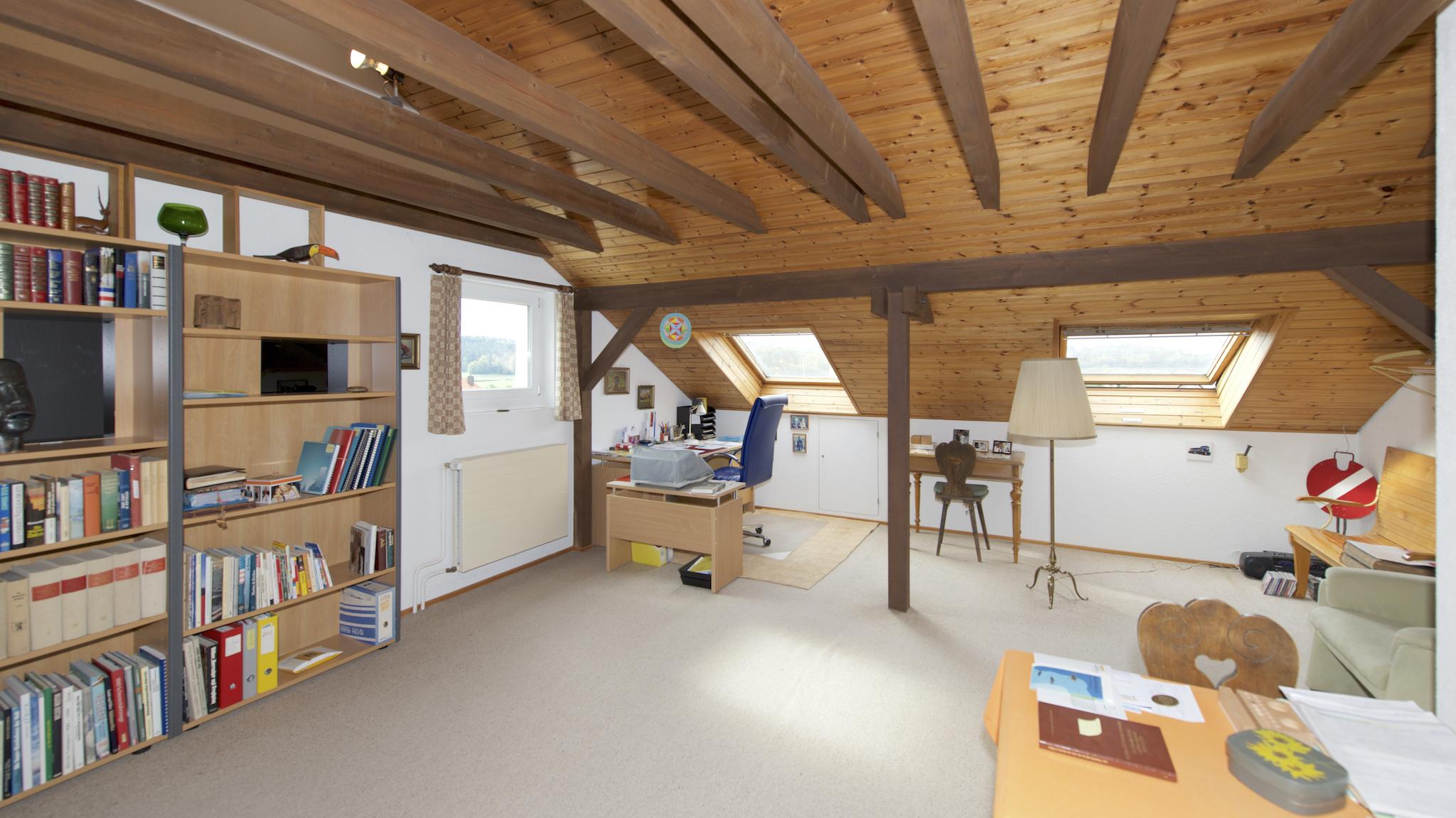 Das ausgebaute Dachzimmer