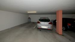Abstellplatz in der Tiefgarage (der Platz mit dem Auto)