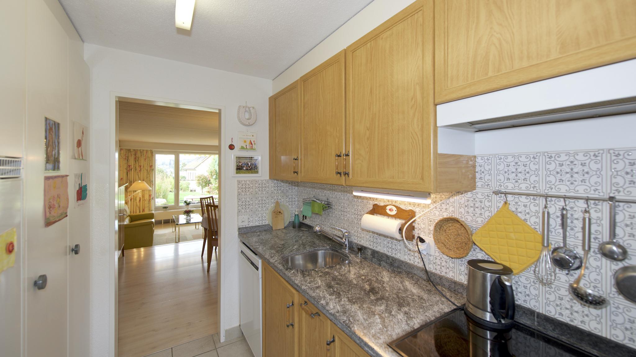 Küche Richtung Wohnbereich