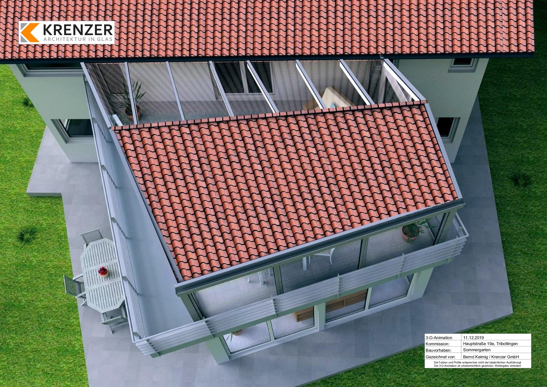 Animierte Dach-Aufsicht