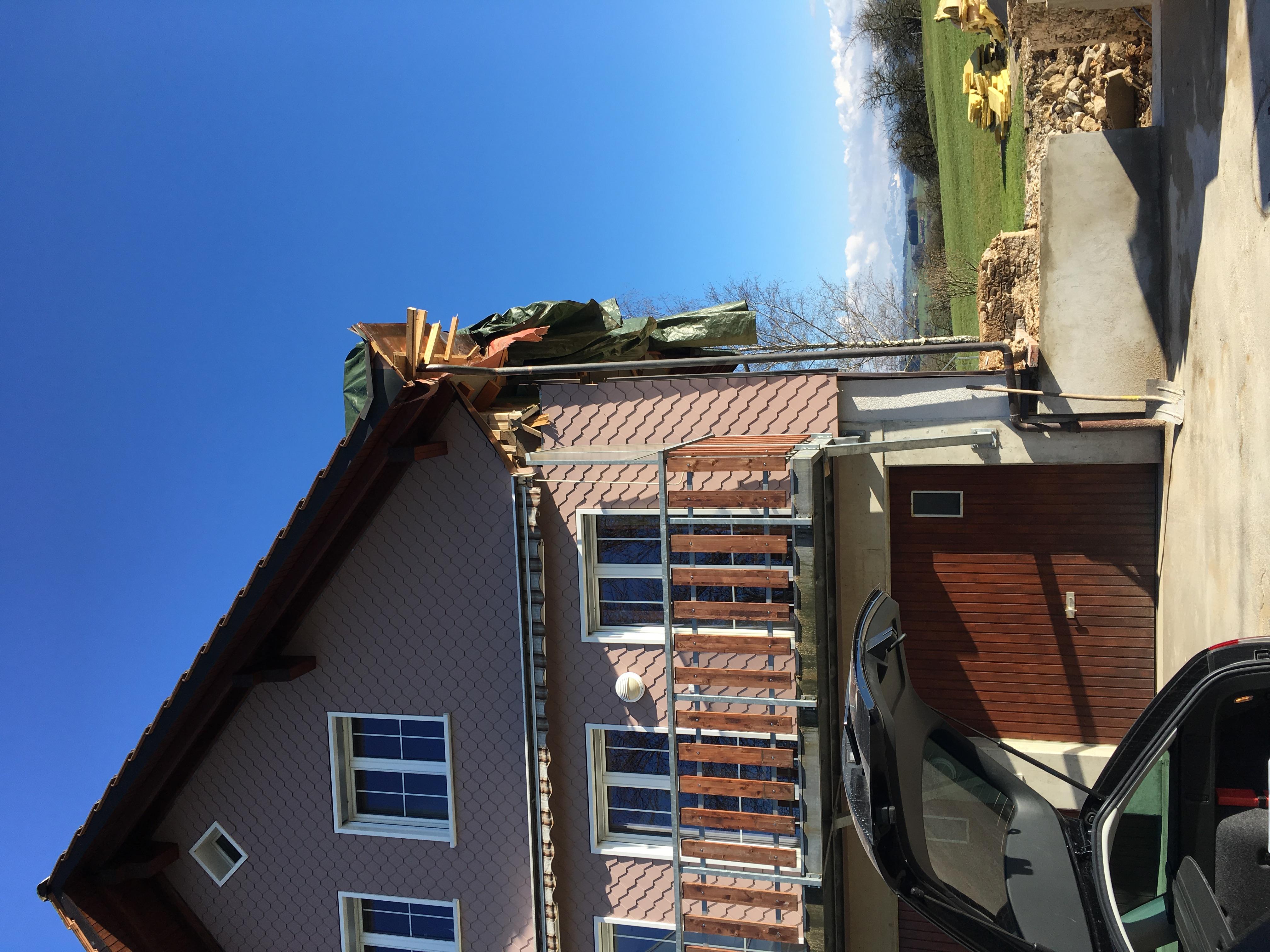 Der Hausteil ist abgerissen