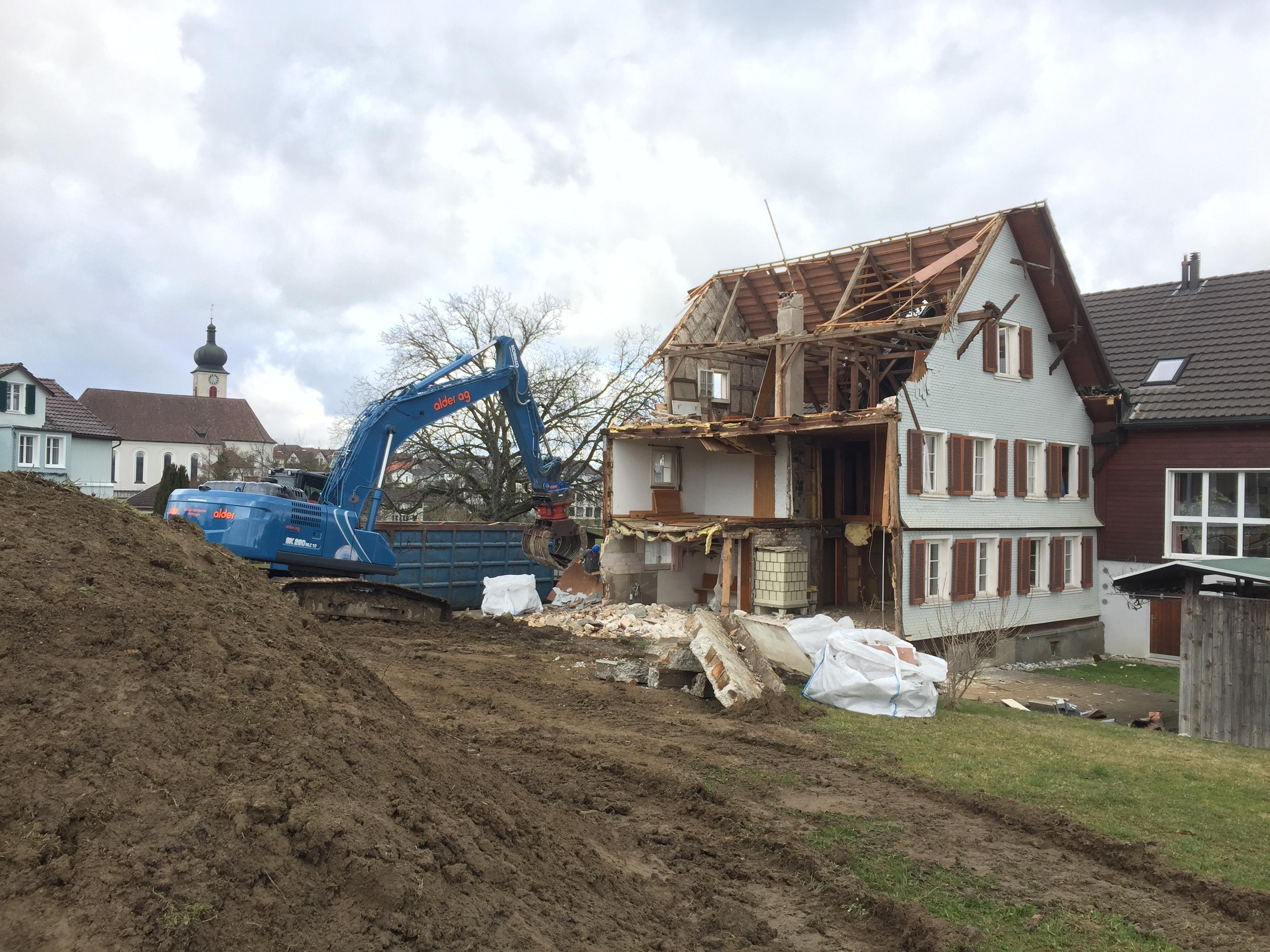 7. März 2017 - Abbrucharbeiten