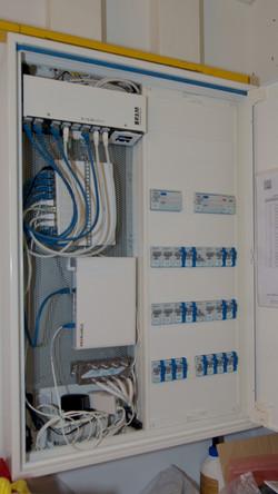 Elektrokasten, inkl. Glasfaseranschluss