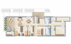 Animierter Wohnungsgrundriss