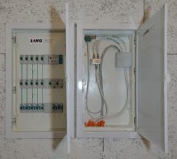 Elektro-Kasten mit Verteiler für TV/LAN
