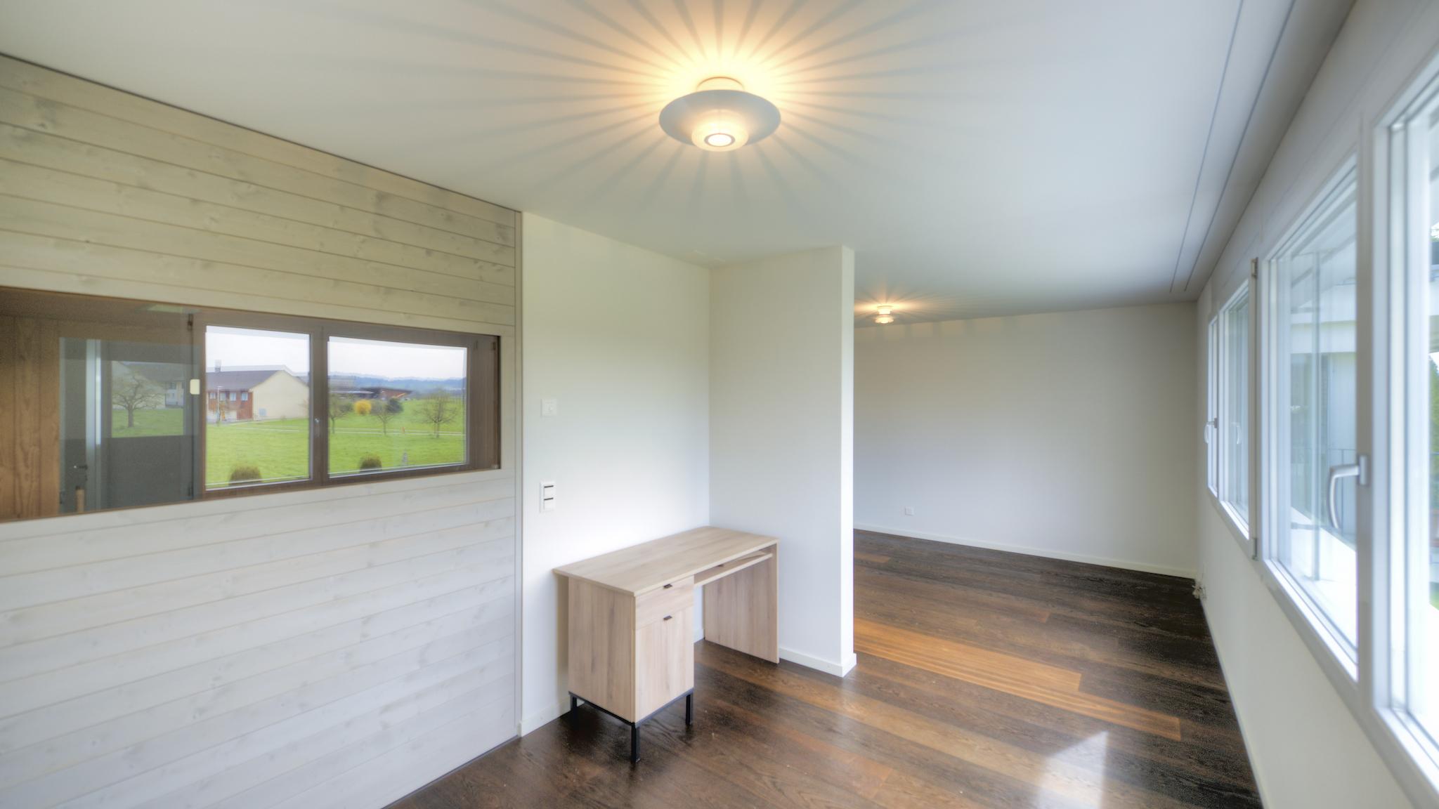 Südzimmer mit dem Blick in die Sauna