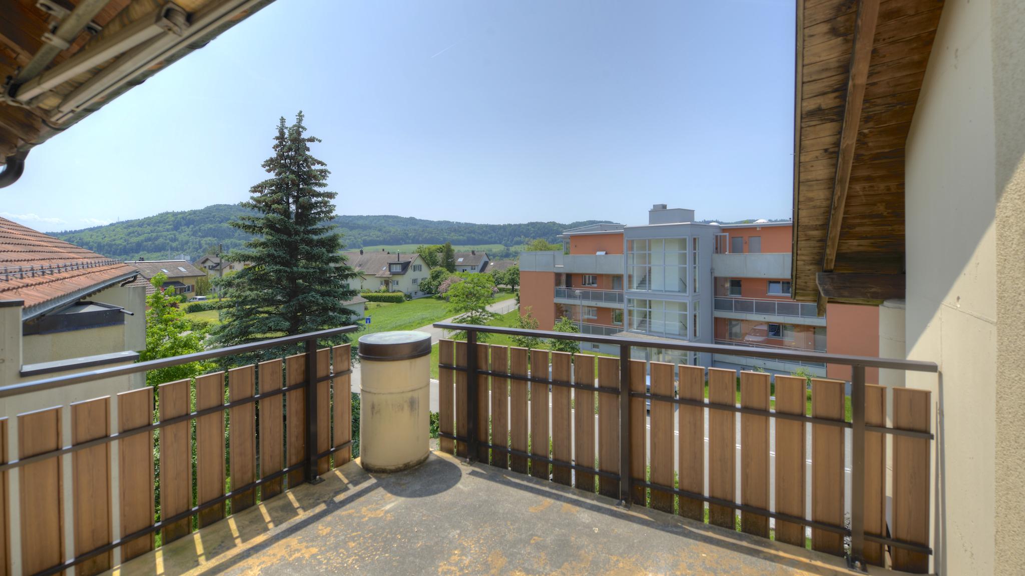 Balkon gegen Westen