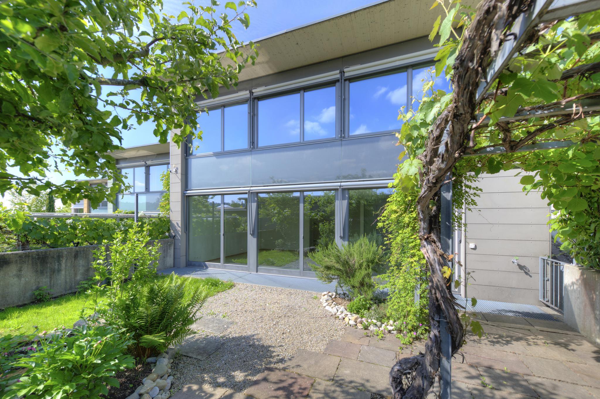 Haus mit dem gepflegten Garten