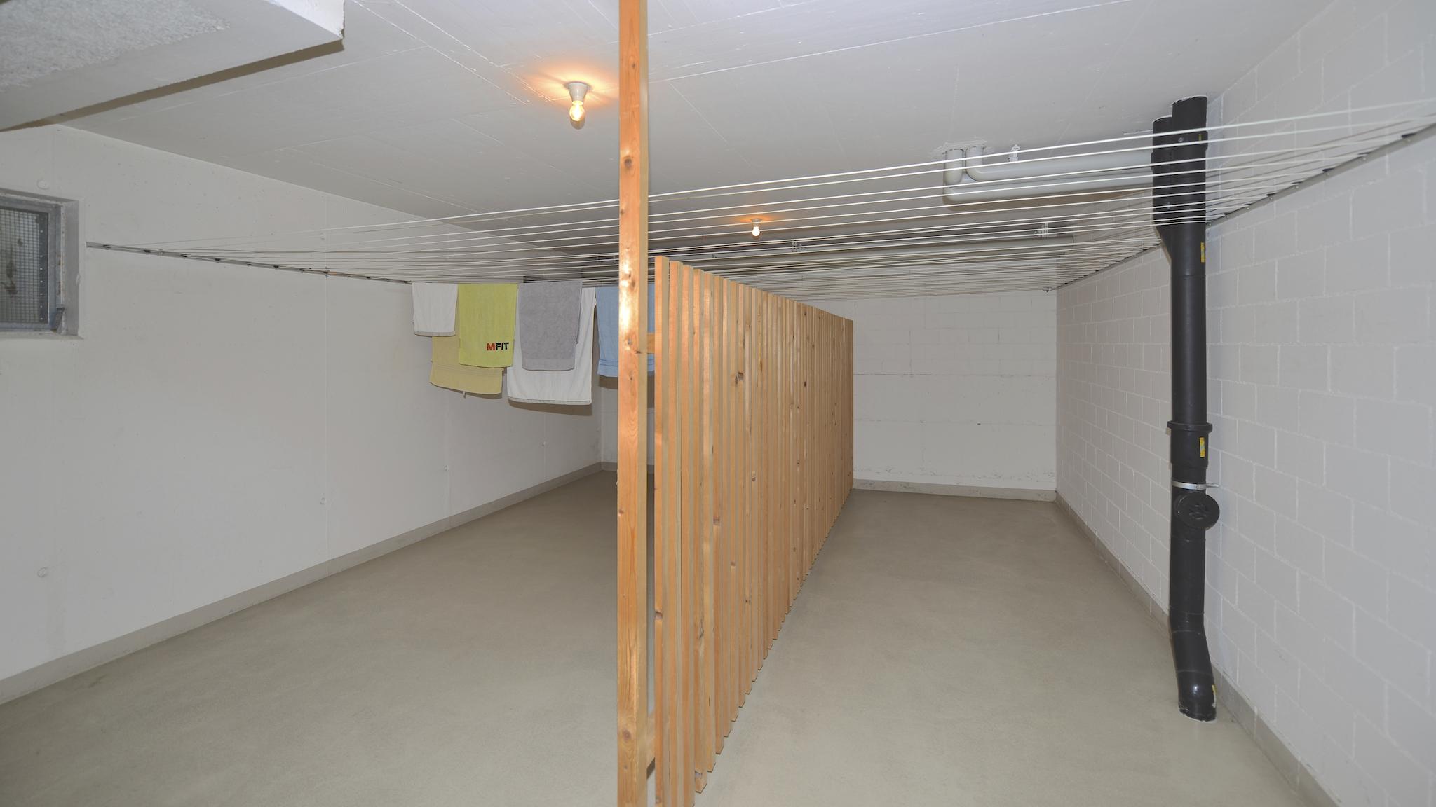 Trocknungsraum im Untergeschoss