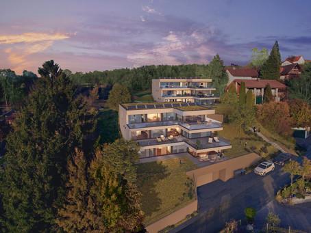 Vorankündigung - 6 Terrassenwohnungen mit Sicht in die Alpen in Nussbaumen