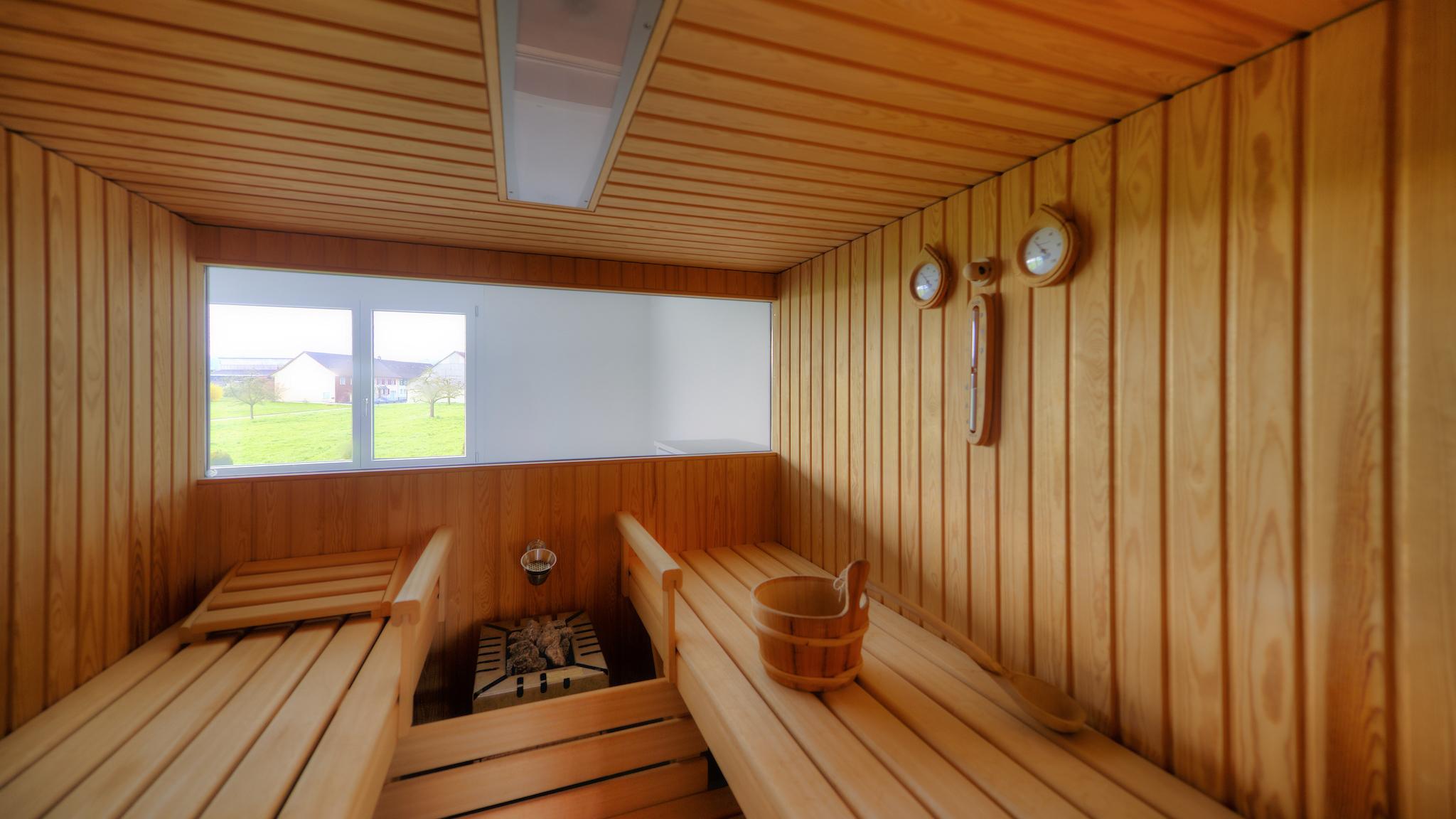 Sauna im Wohngeschoss
