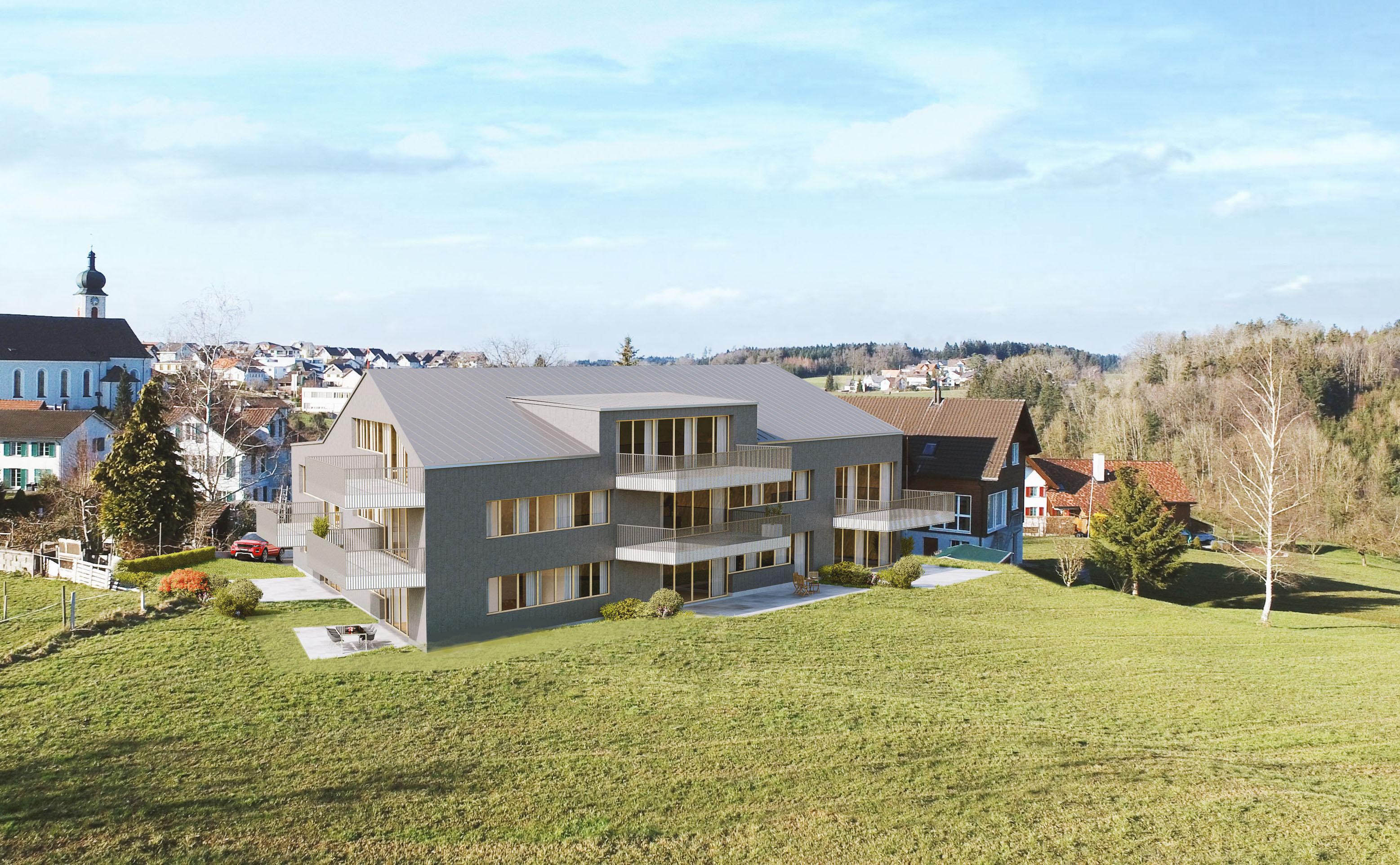 Das geplante Mehrfamilienhaus