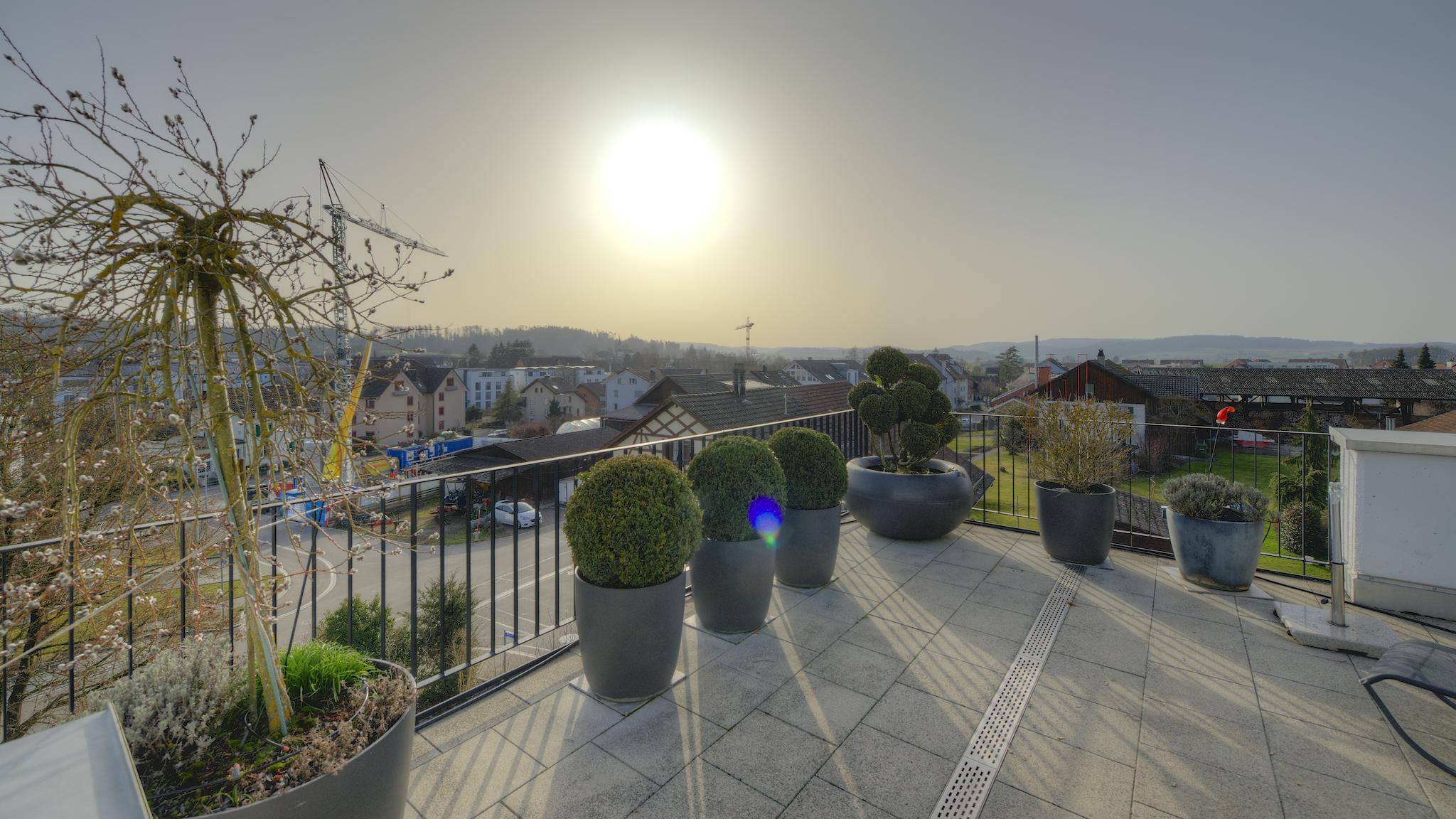 Aussicht Haupt-Terrasse