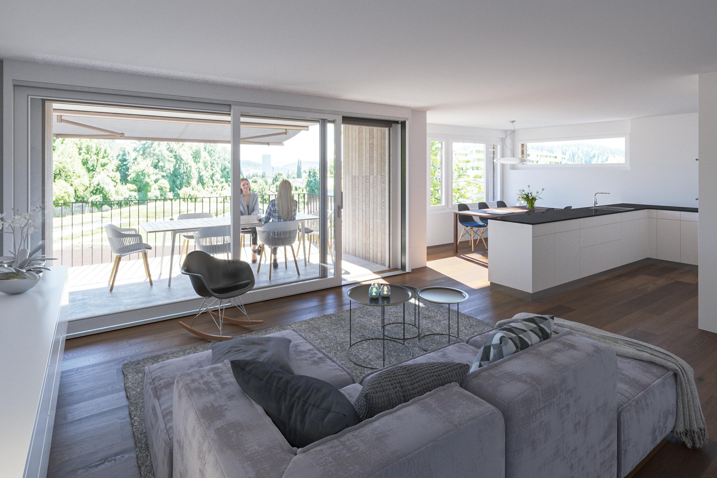 4 ½-Zimmer-Wohnung im Obergeschoss