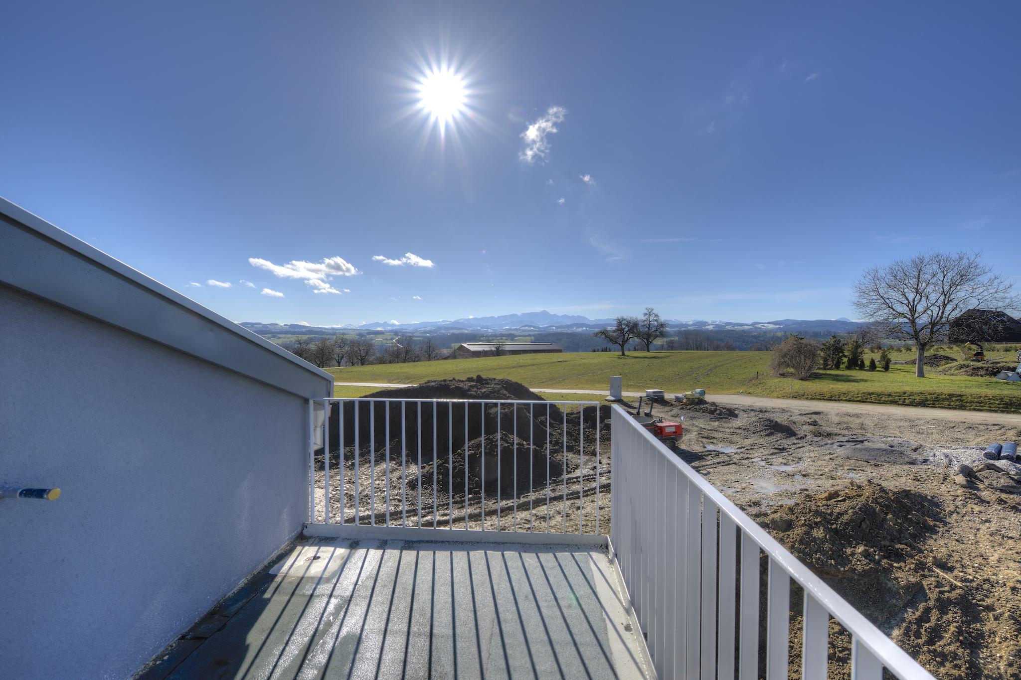 Blick vom West-Balkon