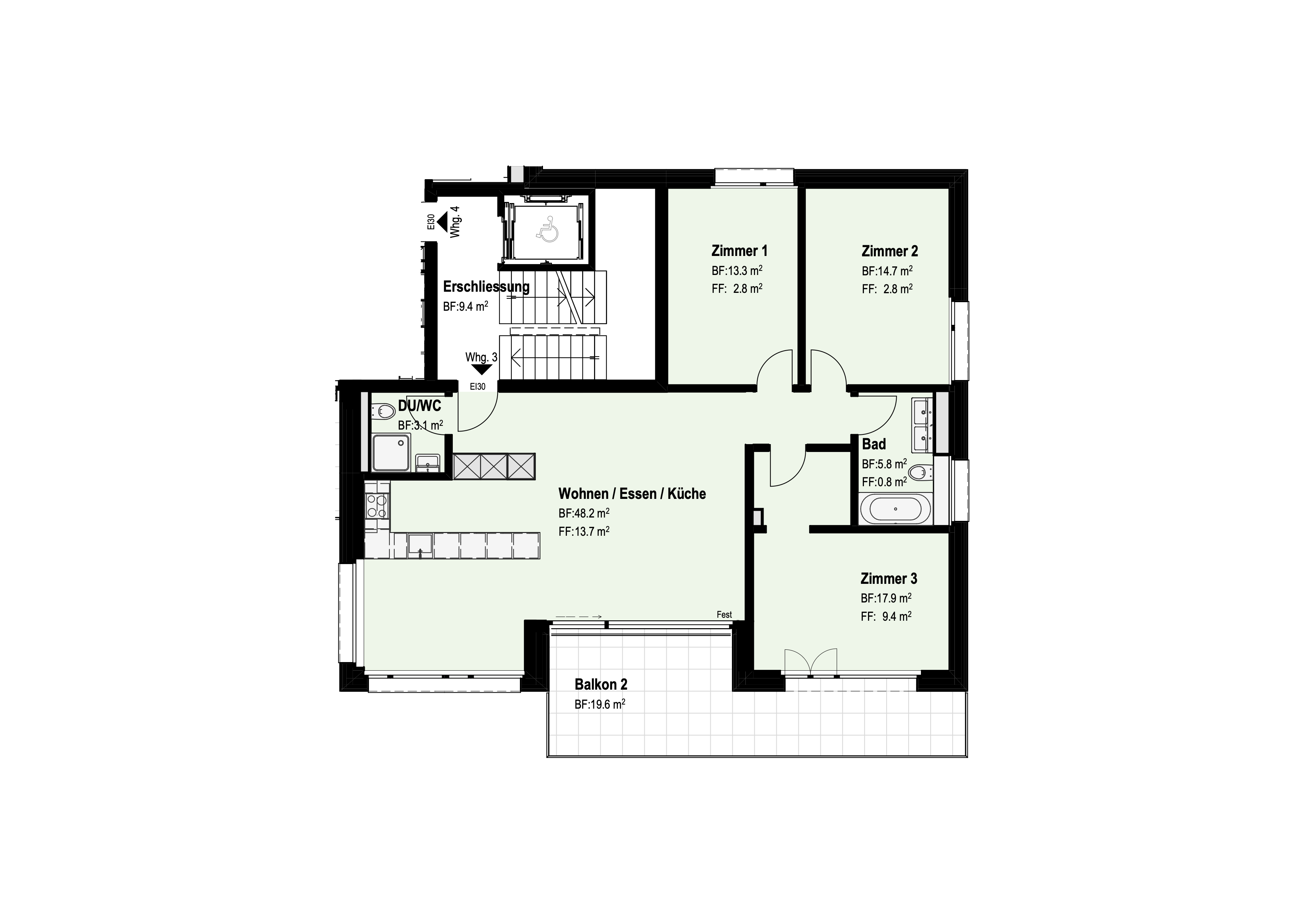 4 ½-Zimmer-Wohnung Obergeschoss