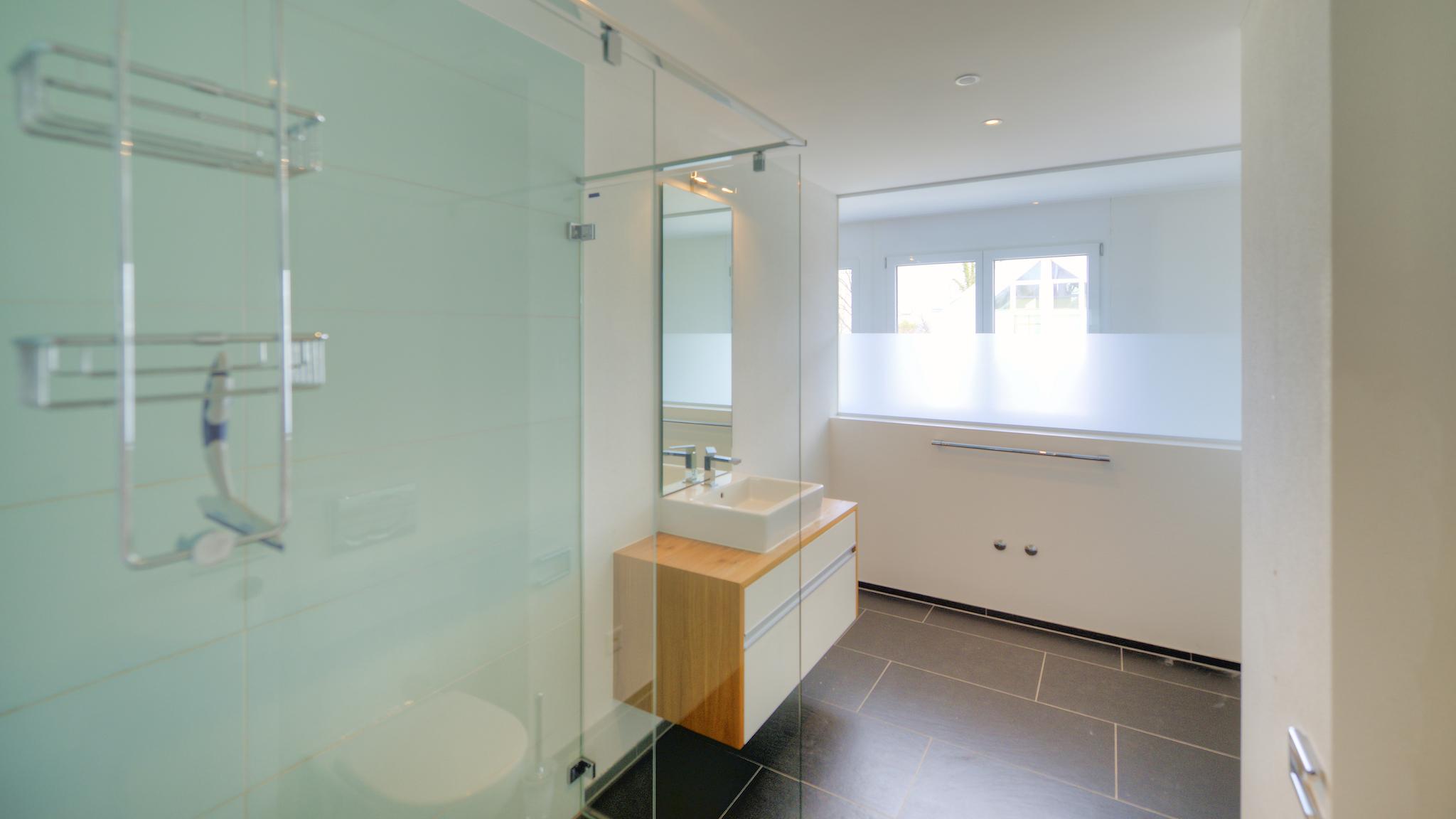 Dusche/WC im Wohngeschoss