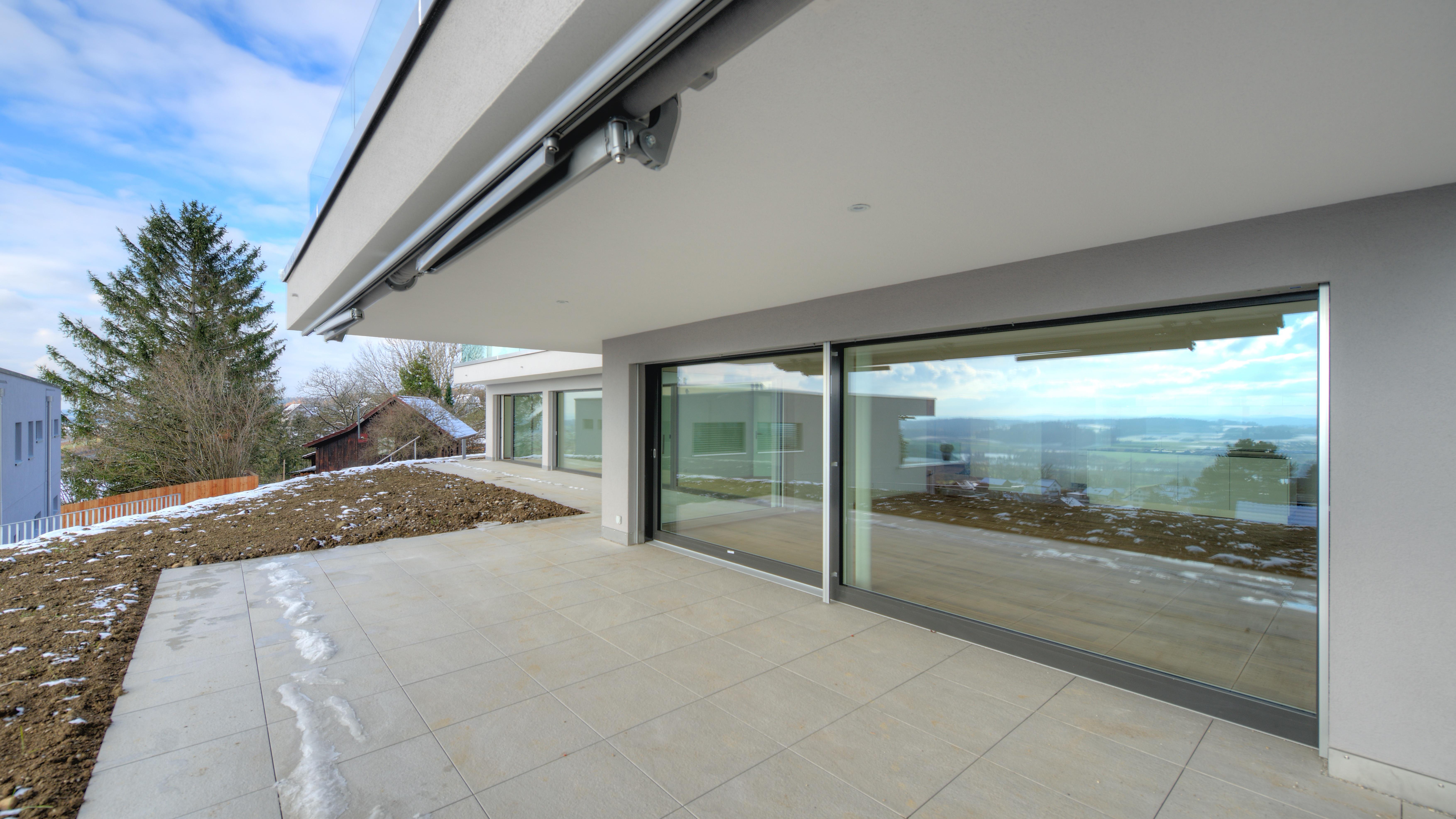 Terrasse mit dem Wohnbereich