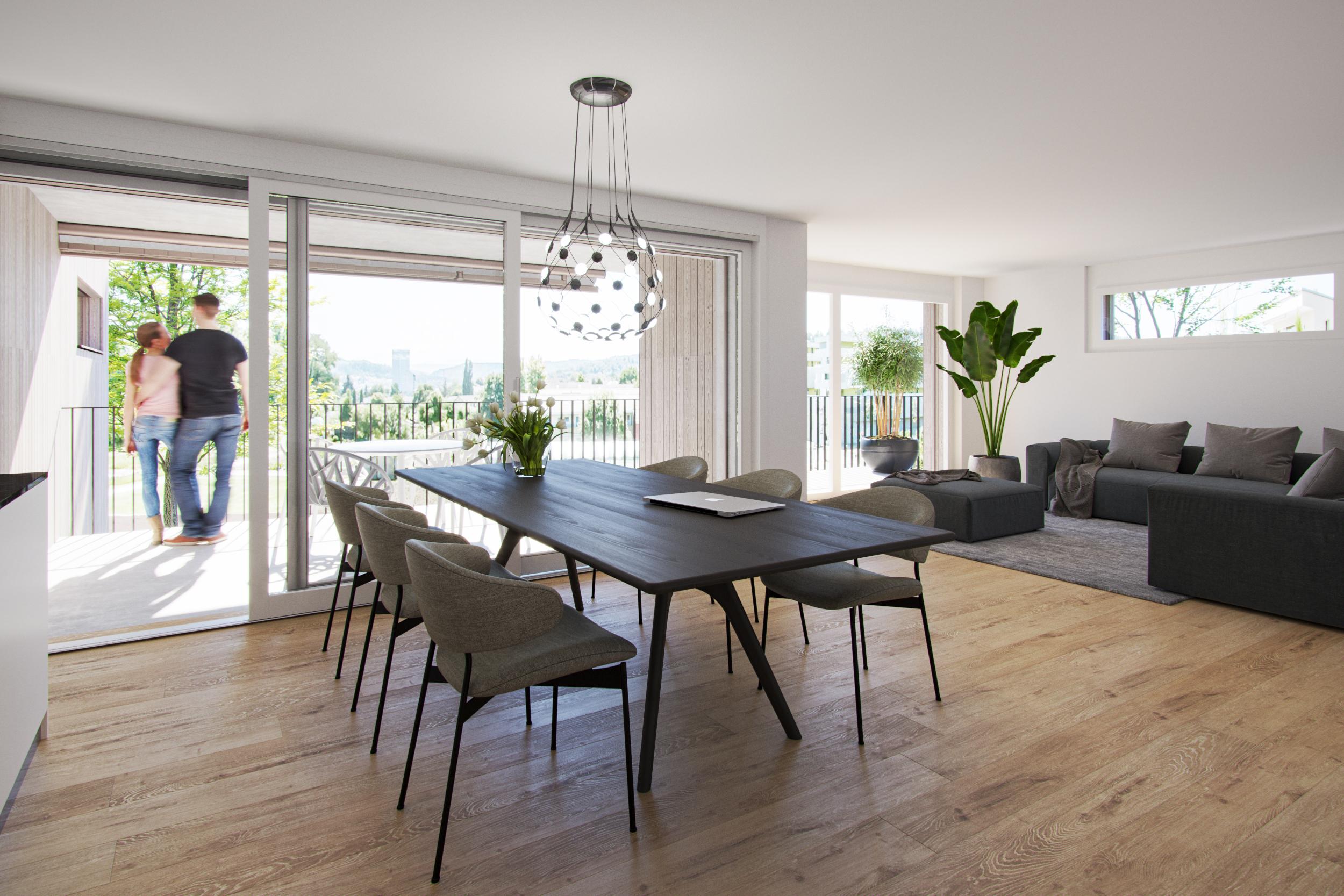 3 ½-Zimmer-Wohnung im Obergeschoss