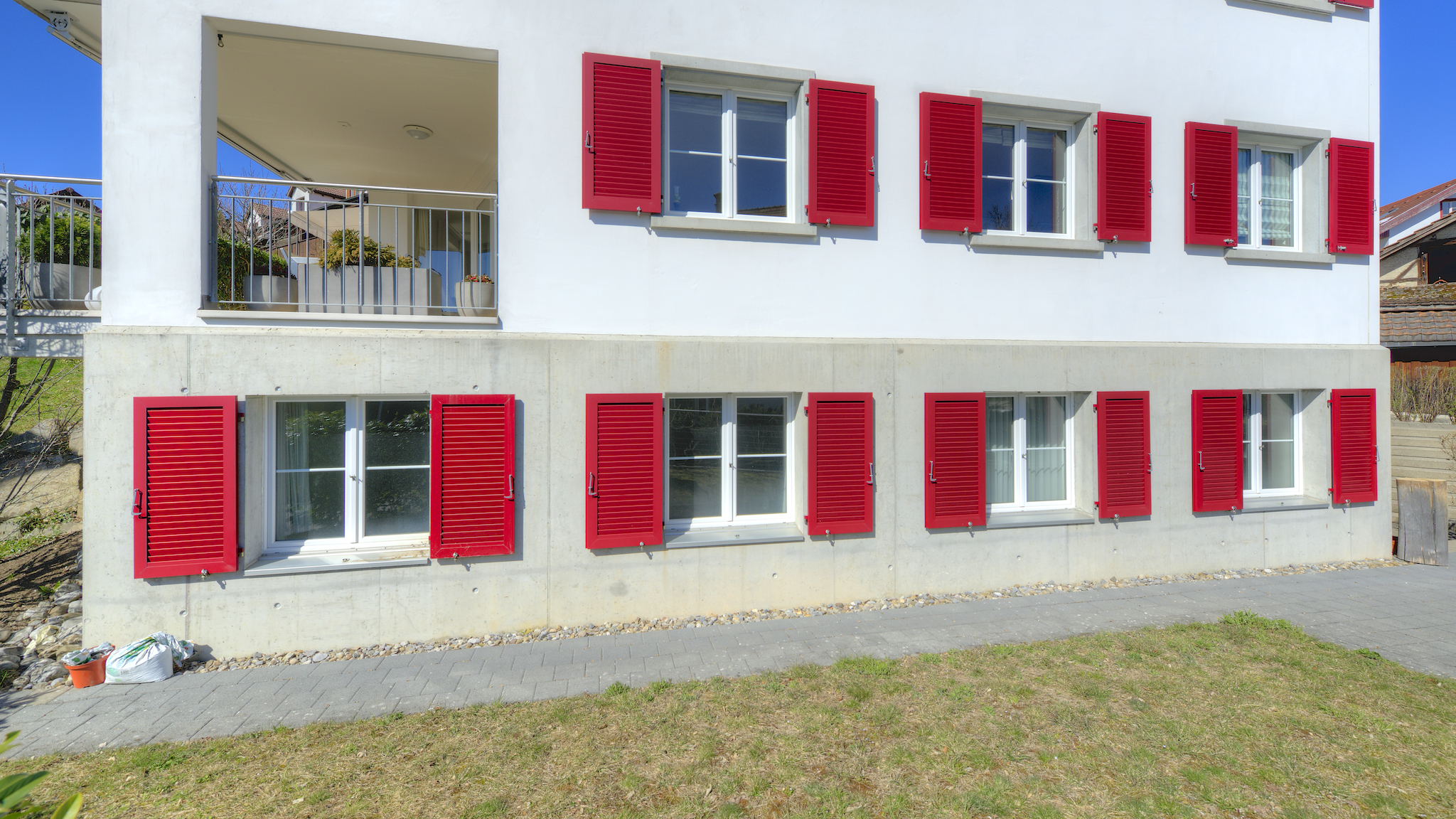 Frontal-Ansicht der Wohnung