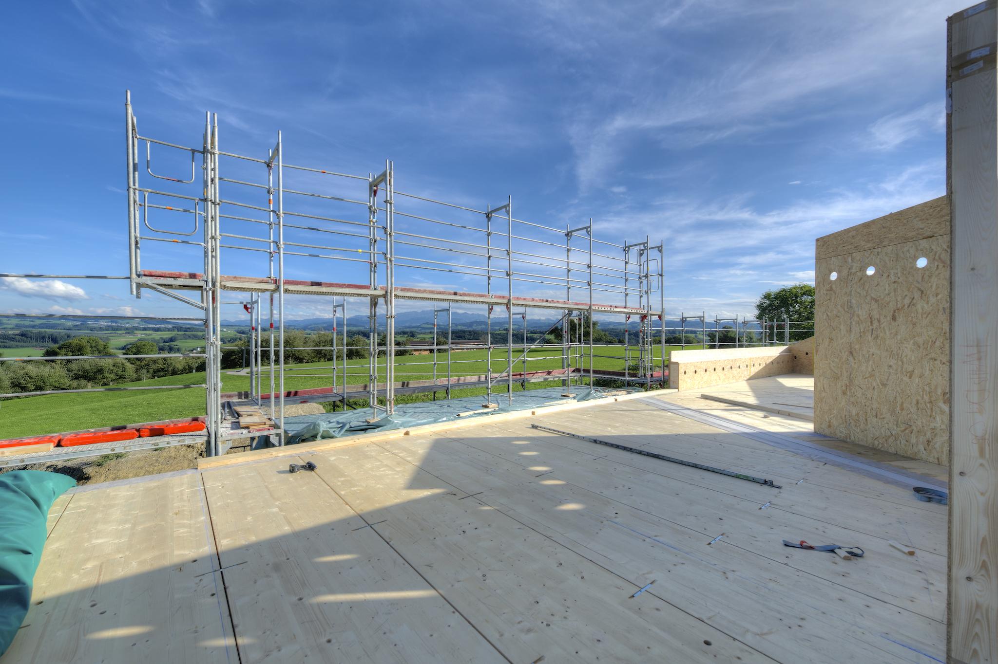 Aussicht vom Süd-Balkon der Attika