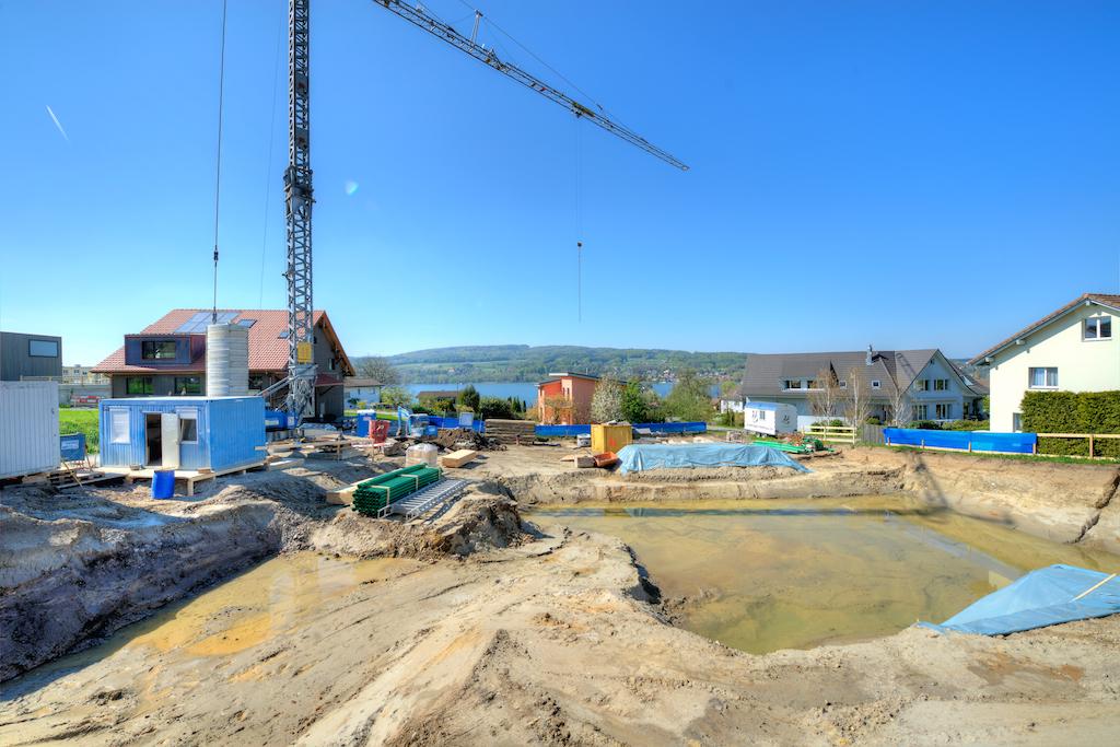 Die Baugrube am 20. April 2016