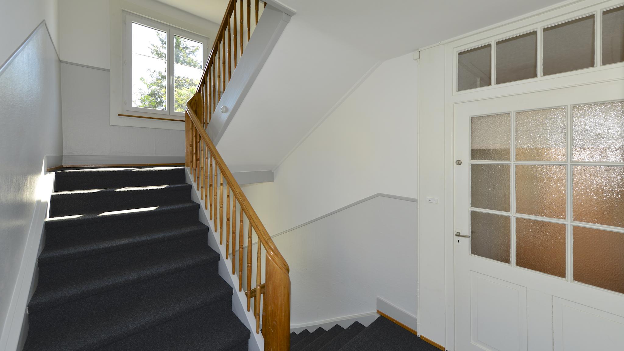 Das frische Treppenhaus