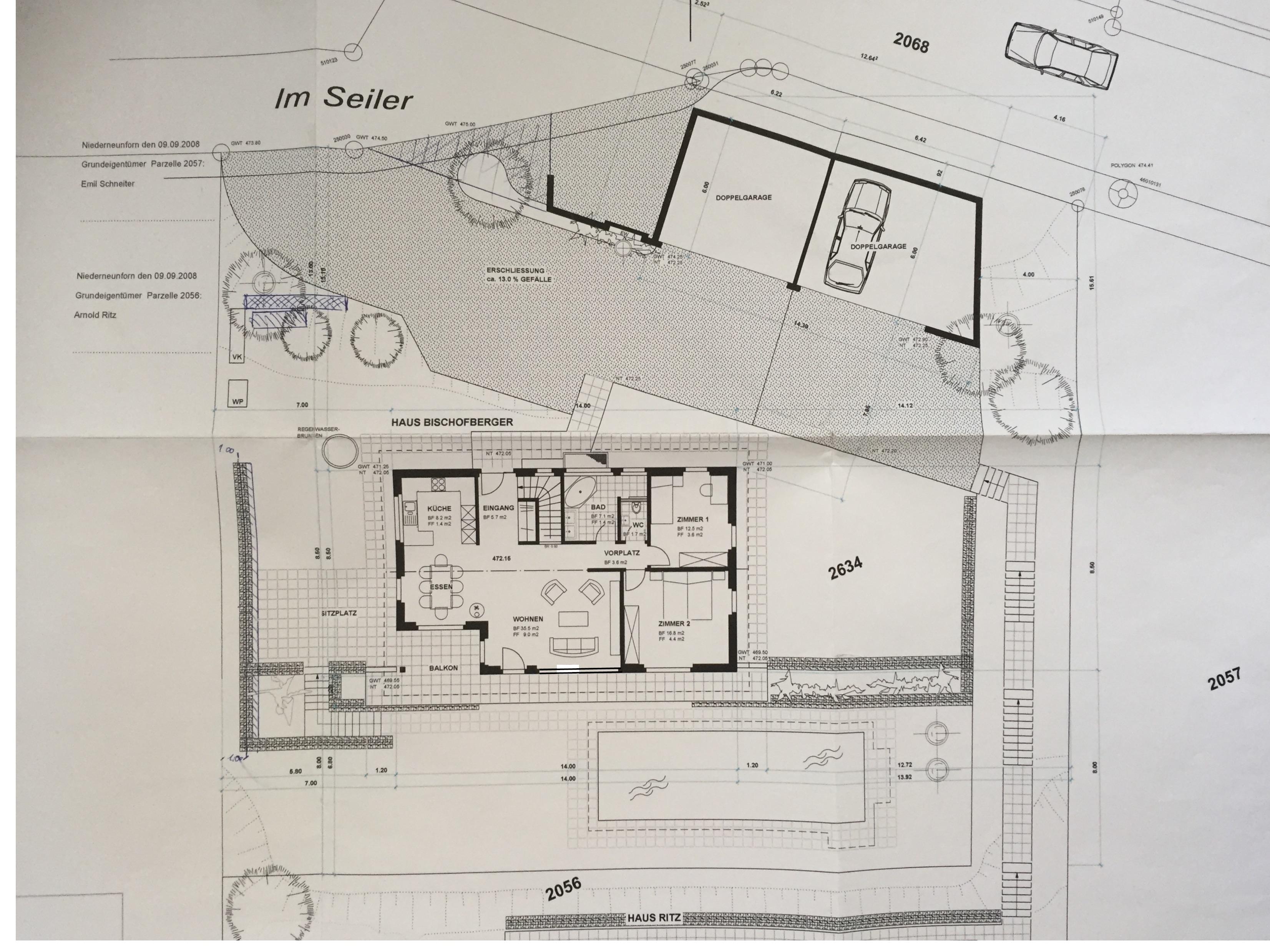 Obergeschoss und Umgebung